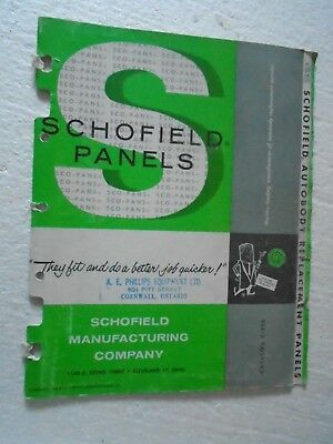 Copyright 1960 Schofield Autobody Replacement Panels Catalog