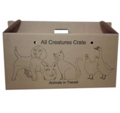 CARDBOARD PET CARRIERS - LARGE 64cm x 31cm x 21cm - ANIMAL PET - CARRIER