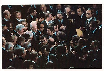 President RONALD REAGAN POSTCARD Congress Revolution Economics House Senate DC