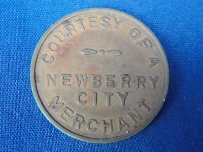 VTG PARKING TOKEN Good Only In Meters / Courtesty of Newberry City Merchant A242
