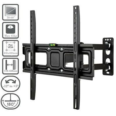 LCD TV Tilt Swivel Swing Arm Wall Mount Cantilever Bracket 40 46 50 52 55 60 65""