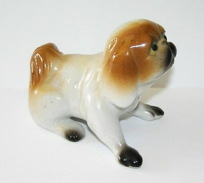 Vintage Chin Dog Figurine Porcelain Made in Japan 3.25""