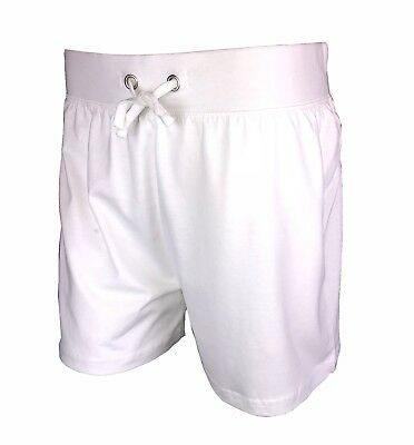 Ladies Casual Jersey Holiday Shorts 100% Cotton New White Summer Hotpants Womens