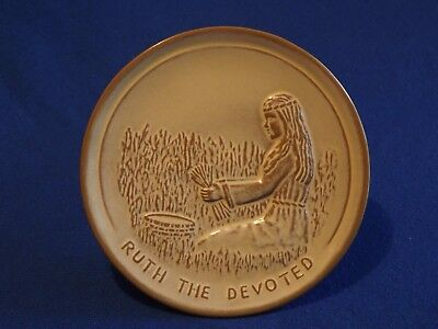 Vtg. FRANKOMA  Pottery ~ 1980 Teenagers Of The Bible ~ RUTH THE DEVOTED