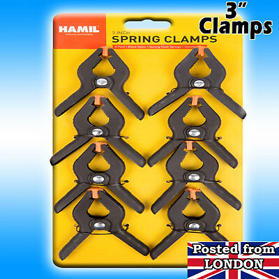 Spring Grip CLAMPS PRO STUDIO BACKGROUND / BACKDROP SUPPORT 3 inch Heavy Duty UK