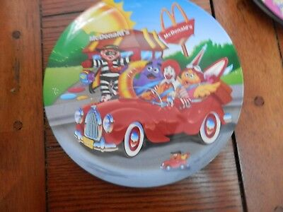 McDonald's Collector  Plastic Plate, 1998, Riding In A Car