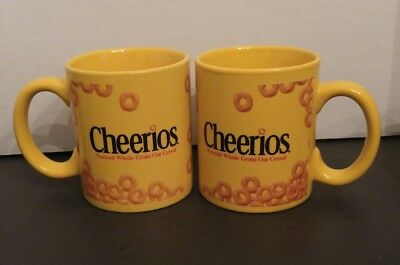 two Cheerios coffee mug cup 12 oz 2002 great condition free shipping