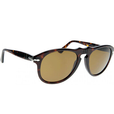 3cf078e01c96 PERSOL PO0649 24/33 Sunglasses Eyewear Havana Frame Brown Lens 54mm ...