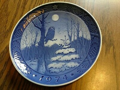 Royal Copenhagen Christmas collector plate 1974