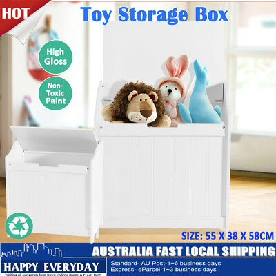 Kids Toy Box Storage Cabinet Stackable Bookcase Shelf Rack Organiser Furniture