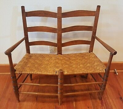 Antique Double Wagon Seat Chair