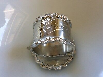 Wilcox Silver Quadruple Plate Victorian? Marked Meriden Conn Figural Napkin Ring