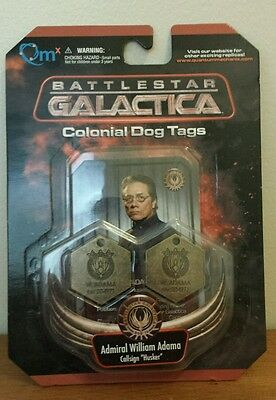 Battlestar Galactica Dog Tags BSG prop replica quantum mechanics Adama