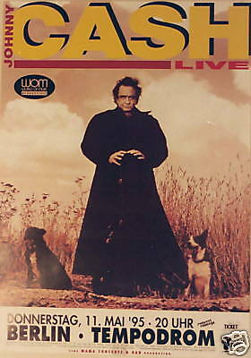 Johnny Cash Concert Tour Poster 1995