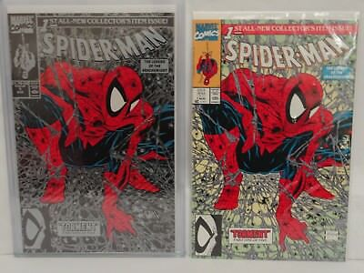 Lot Of 2 Spider-Man Comic Torment Collector's Issue #1 Aug 1990 Mint