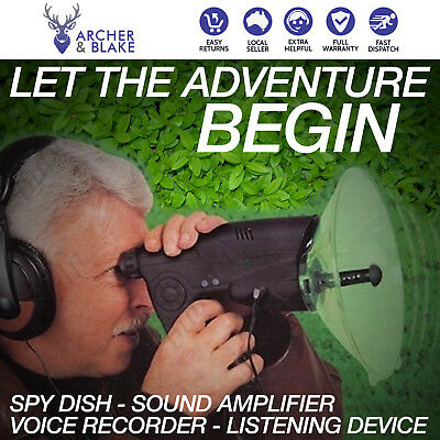 Spy Dish Sound Amplifier Voice Recorder Animal Bird Watching Listening Device