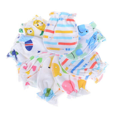 2 Pairs Newborn Baby Soft Cotton Anti Scratch Mittens Gloves Baby Accessories LJ