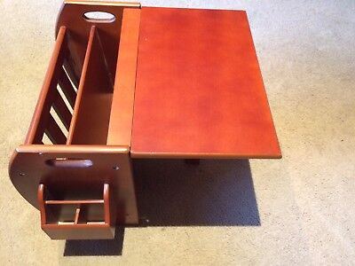 Vintage/Retro style Timber Magazine Rack Converts to Coffee Table - Remote hold