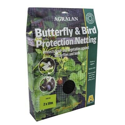 Agralan Bird & Butterfly Protection Netting 10 x 2m Protects Vegetables Ponds