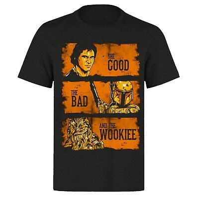 The Good The Bad & The Wookie Han Solo Movie Star Wars Ph367  Black T Shirt