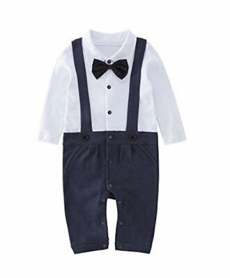 Baby Boy Wedding Christening Tuxedo Suit Outfit Romper Clothes Formal Wear Dress
