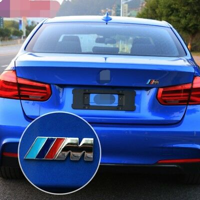 Bmw M Power Sport Badge Rear Boot Emblem Sticker Series 1 2 3 4 5 6 7 X3 X5 X6