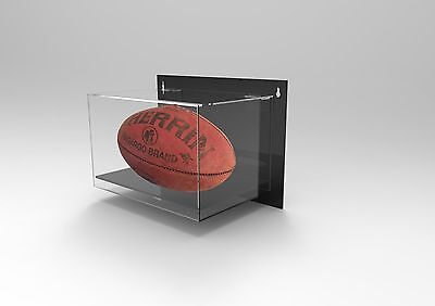 Wall Mountable Football Rugby Acrylic Perspex Display Case Signed Autographed