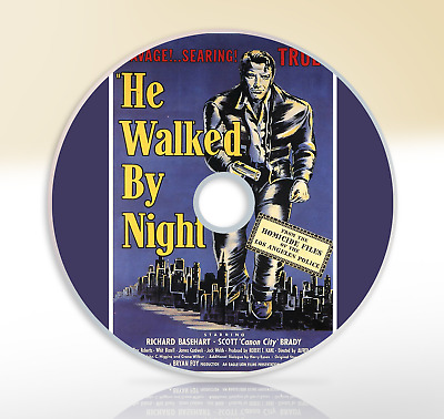 He Walked By Night (1948) DVD Crime Drama Movie / Film Noir Richard Basehart