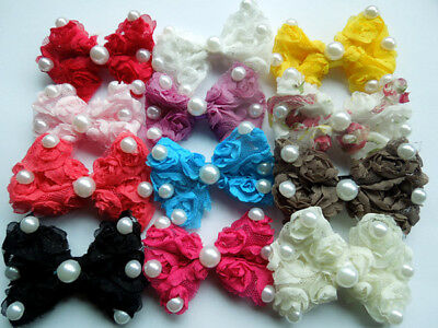 10pcs Dog Hair Bows Pet Dog Grooming Hair Clips rubber band Accessories