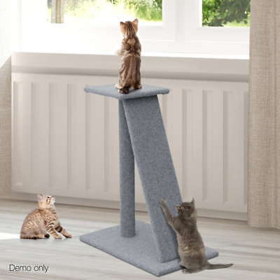 Soft Cat Post Ramp Furniture Scratching Tree Gym Scratcher Pole Toy Play Ladder
