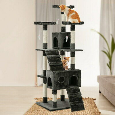 iPet 180cm Cat Scratching Post Tree House Large Scratcher Gym Toy Pole Condo