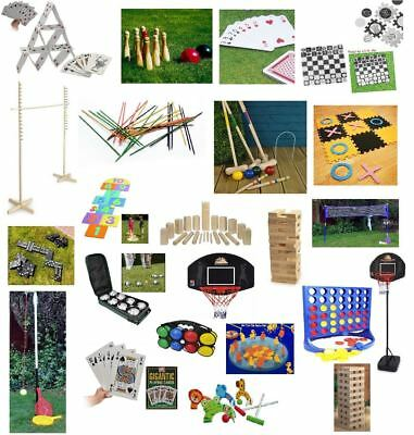 Garden Games Outdoor Fun Summer Kids Family Games Sports Jenga Limbo Etc New