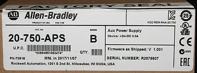 ALLEN BRADLEY 20 750 APS Auxiliary Power Supply Device 24 VDC Series B *SEALED*