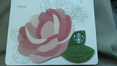 NEW STARBUCKS MOTHERS DAY Die-Cut Flower Gift Card 2018