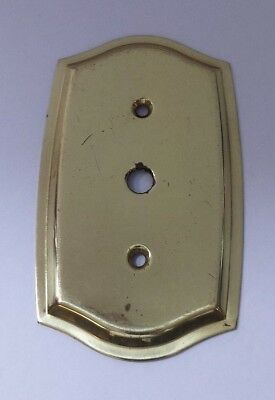Vintage Single Push Switch Light Plate Bevelled Edge Brass Scratched Hardware