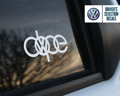 Volkswagen Dope Euro Style Window Sticker Decal