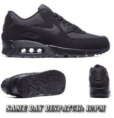 outlet store 16ebf 27747 Mens Nike AIR MAX 90 ESSENTIAL Original Trainer TRIPLE BLACK SUEDE SIZES  6-11 UK SELLER |SAME DAY DISPATCH ON ORDERS BY 12PM|FREE P&P