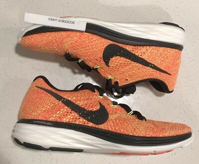 79a490281809d NEW Nike Flyknit Lunar 3 Training Running Shoes WOMENS 5 Orange Black   150msrp