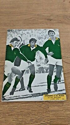 South Africa v New Zealand 3rd Test 1976 Souvenir Rugby Programme
