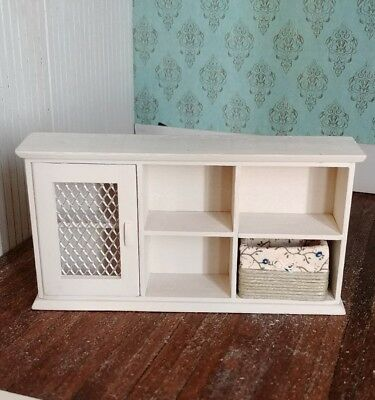 1:12 dollhouse miniature handmade wooden floral cabinet furniture
