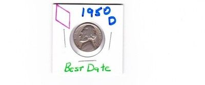 1950 D Jefferson Nickel circulated, should be best price on e bay, sold as each