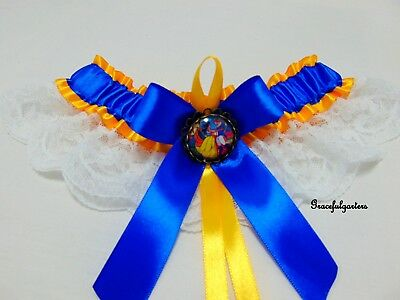 Beauty and the beast Bridal Wedding Garter. belle. disney. rose