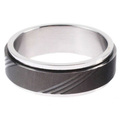 Redemption Spin Circle Ring in Black