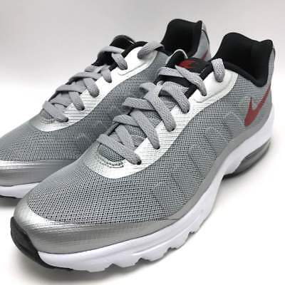 the latest 7bf71 83703 Nike Air Max Invigor Men s Running Sneakers Wolf Grey Red-Black 749680-004