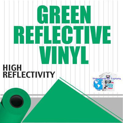 "GREEN Reflective Vinyl Adhesive Cutter Sign Hight Reflectivity 24"" x 25 Feet"