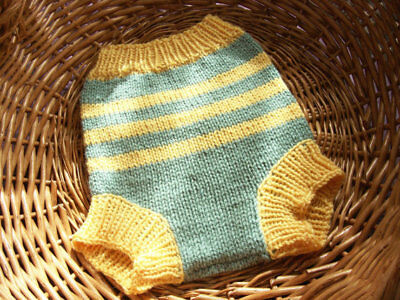 Hand Knitted Wool Cloth Diaper Cover baby nappy cover size  Large 12- 18 Months
