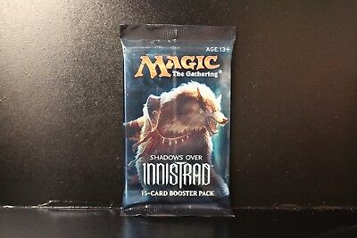 1x Magic the Gathering (MTG) Shadows over Innistrad New Sealed Booster Pack