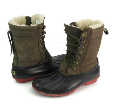 05c482d7502d SPERRY TOP SIDER Women s Brown Lace Up Wool Winter Snow Duck Boots US Size  6 M -  27.99