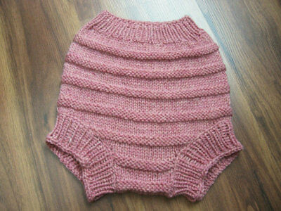 Hand Knitted Wool Cloth Diaper Cover baby nappy cover size  Medium 6- 12 Months