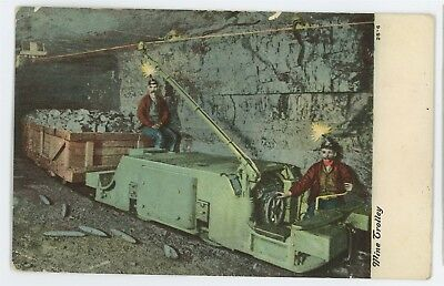 Anthracite Coal Mining Mine Trolley Cart PA Vintage Pennsylvania Postcard